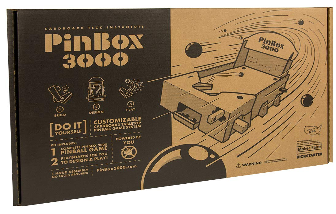 Set of 2 PinBox 3000 DIY Customizable Cardboard Make Your Own Pinball Machine Kit with No Tool Assembly by Cardboard Teck Instantute (Image #4)