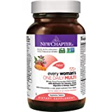 New Chapter Multivitamin for Women 50 plus - Every Woman's One Daily 55+ with Fermented Probiotics + Whole Foods + Astaxanthin + Vitamin D3 + B Vitamins + Organic Non-GMO Ingredients - 72 ct