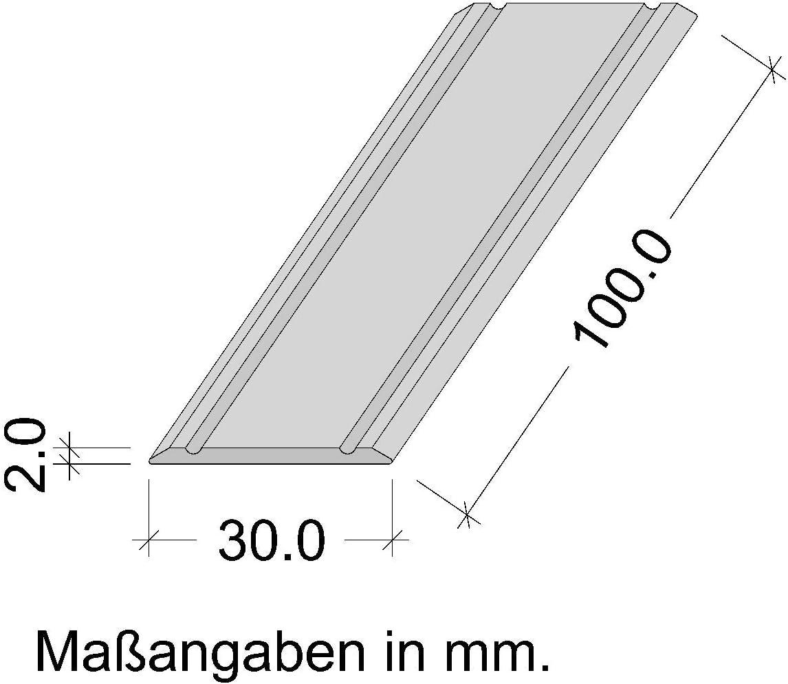T/ürschwelle zum Kleben Bodenprofil Aluminium Messing eloxiert Gedotec Alu /Übergangsprofil SUPER-FLACH /Übergangsschiene selbstklebend 1 St/ück ungelochte Aluminium Abdeckleiste 2000 x 30 mm