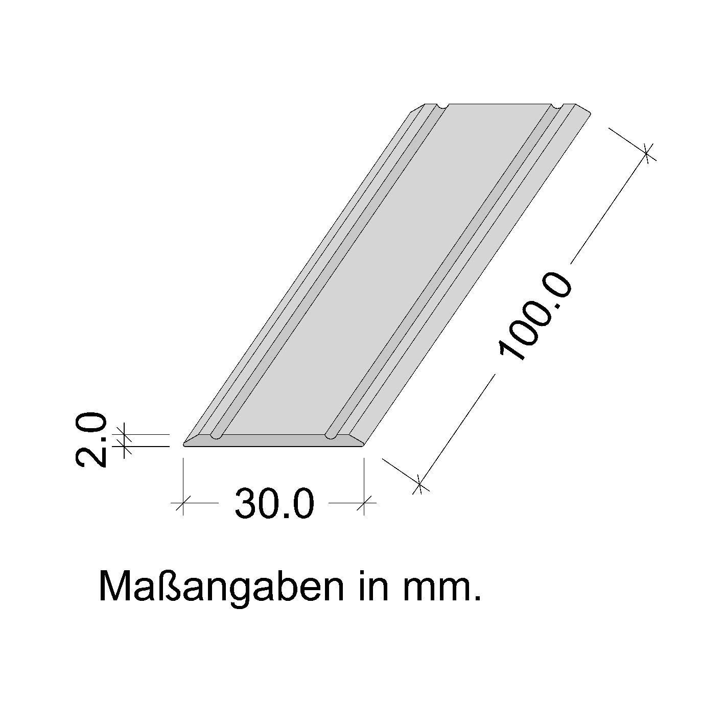 100 cm Aluminium bronze anodised GedoTec Transition profile self adhesive Aluminium SUPER FLAT Transition rail Soil profile Wide 30 mm 3 Colors 100 cm or 200 cm Made in Germany