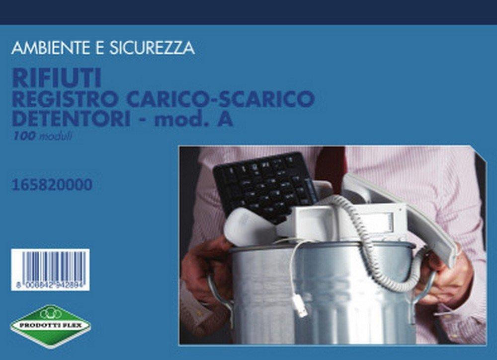FLEX 16582000 REGISTRO CARICO/SCARICO RIFIUTI DETENTORI conf. da 5 pz.