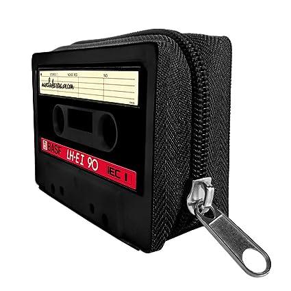 Monedero Cartera de Cassette, Cremallera Color Negro, Retro ...