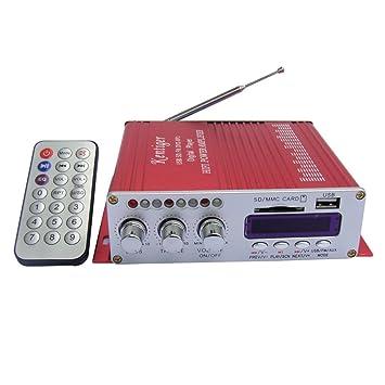 Kentiger A8CA00020 - Amplificador con radio, MP3 y mando a distancia (puertos y tarjeta USB, SD, MCC): Amazon.es: Electrónica