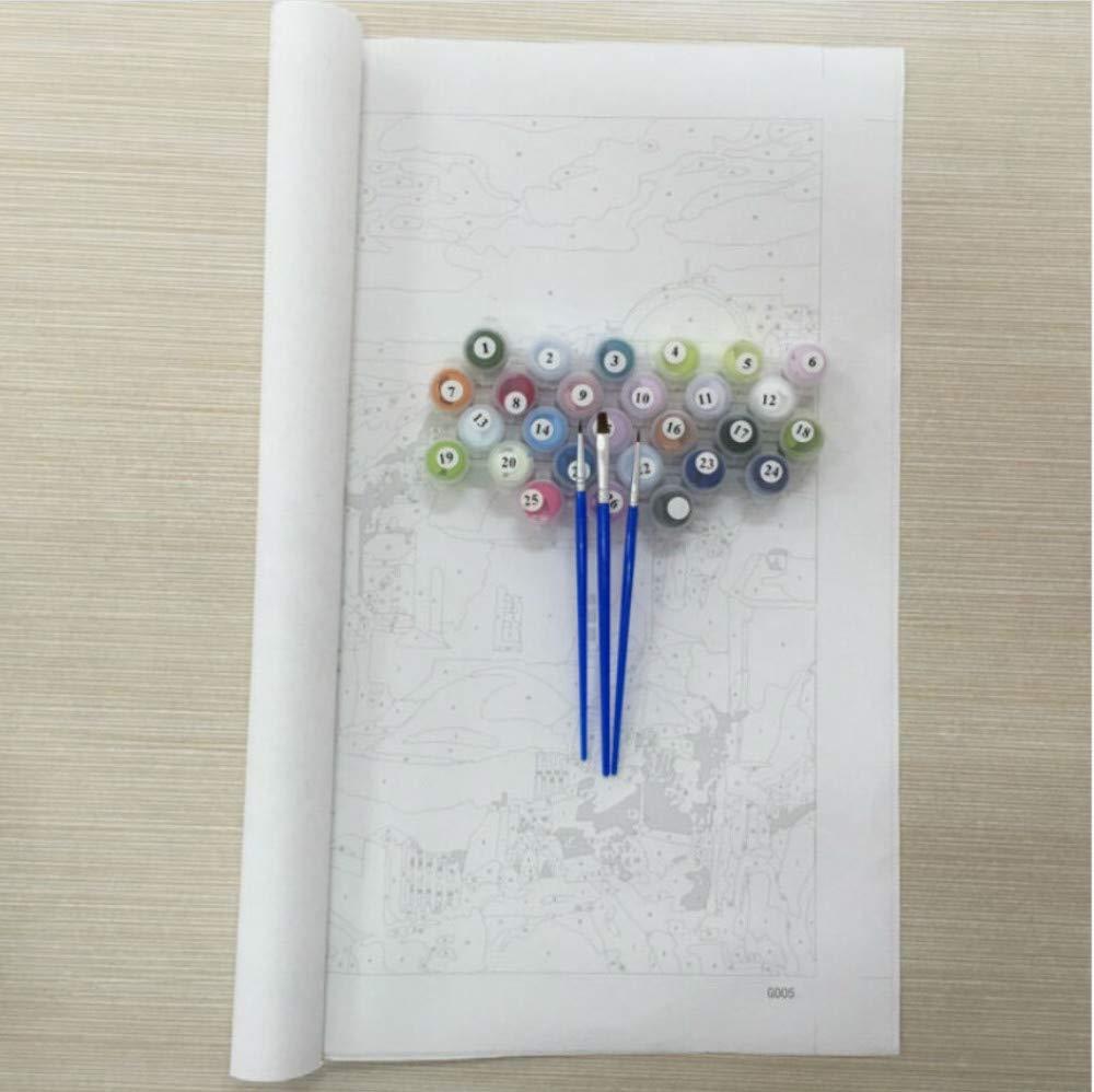 GUOXIN12 DIY digital paintingNo Frame Seascape DIY Malen nach Zahlen Zahlen Zahlen Wandkunst DIY Ölgemälde Färbung nach Zahlen Wohnkultur für Wohnzimmer Wall40x50cm B07PR53C4Z | Hohe Sicherheit  23bcad