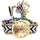 Retro Womens Watches VANSOON Clearance Quartz Female Watches on Sale Comfortable Leather Handmade Ladies Vintage Dreamcatcher Friendship Watches Bracelet Watches