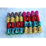 Yagopet 20pcs/pack Dog Hair Bows Christmas Designs Bling Dog Topknot Bows Shinny for Holidays Rhinestone Centre Pet Dog Grooming Bows Supplies Dog Hair Accessories Free Shipping