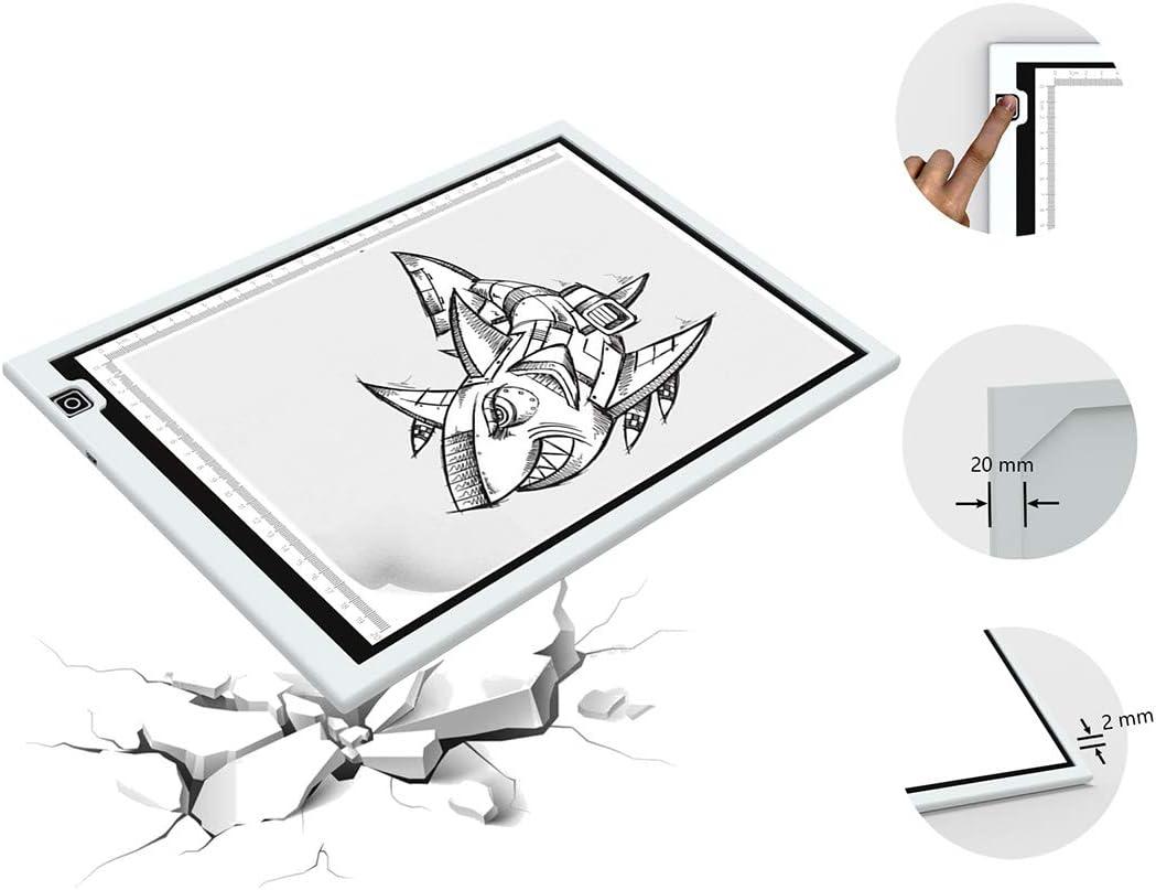 Cuisine Maison Tables Lumineuses A4 Ultre Mince Led A Dessin Trace Pad Avec Stepless Reglables De Luminosite Surface Pure Pour Arts Dessiner Animation Esquisser Tatouage Architecture Design Avec Etui Yomon Tablette Lumineuse