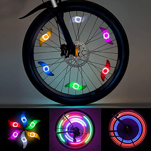 Luz de Radios de Bicicleta, LEDGLE Luz de Rueda LED, Luces de ...