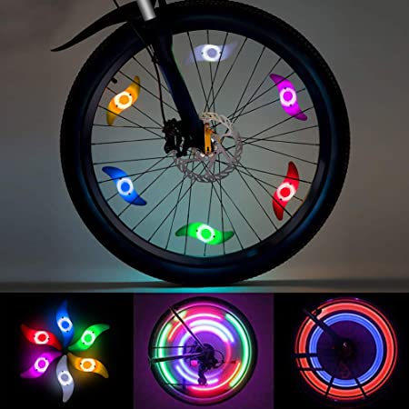 USB Rechargeable LED Cycling Bike Bicycle Wheel Spoke Light Flashing Colorful