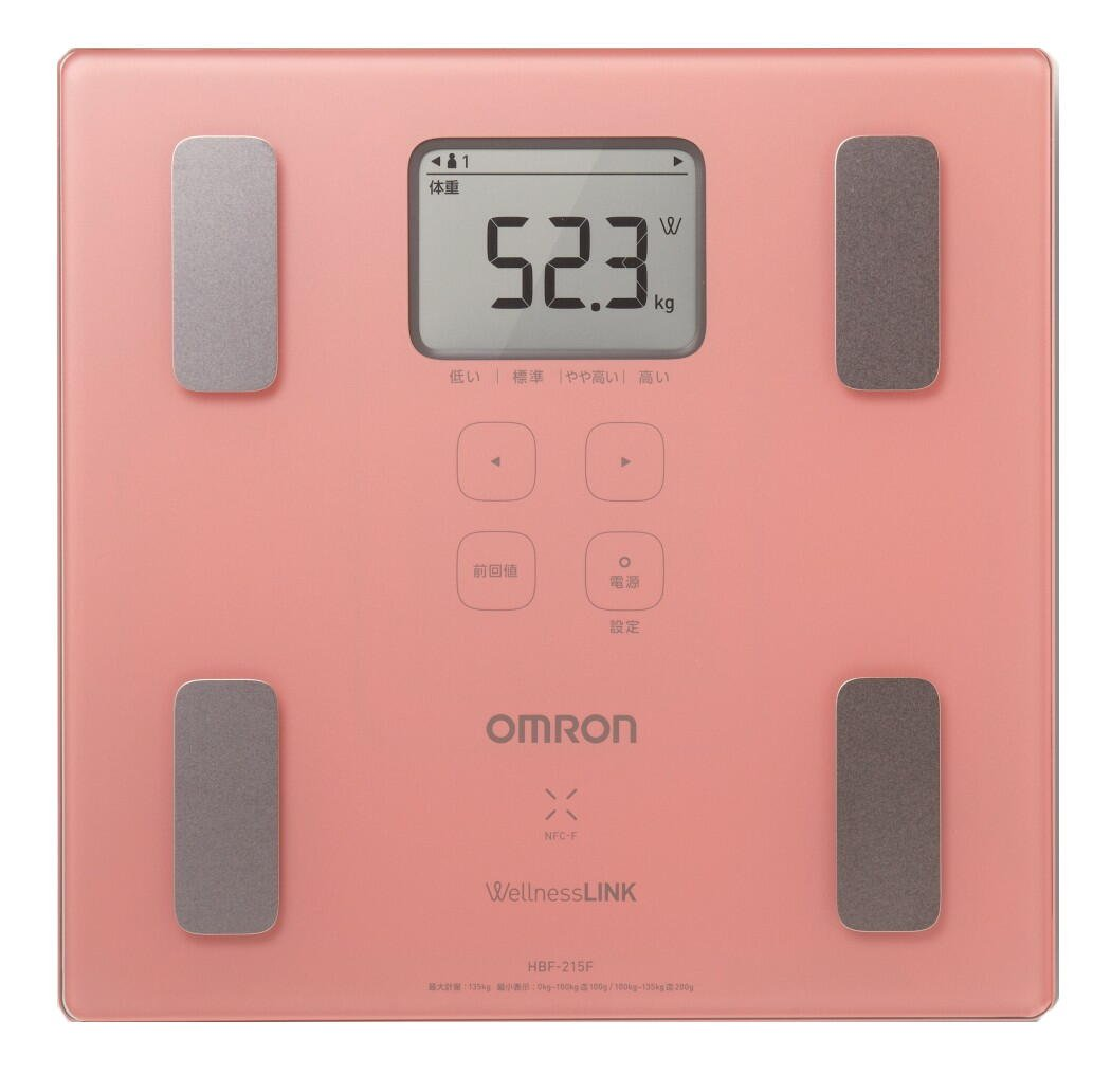 Omron KARADA Scan Body Composition & Scale | HBF-215F-PK (Japanese Import)