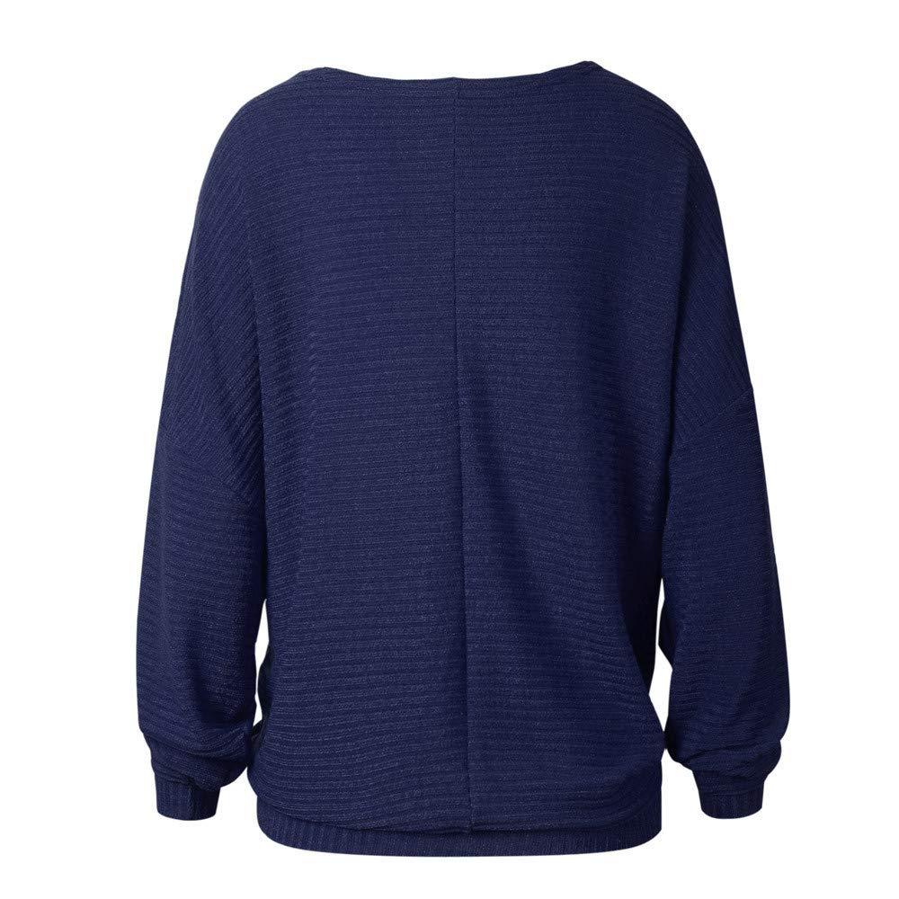 BaZhaHei-Jersey Manga de murciélago Suelta Moda otoño e Invierno suéter de Punto Camisetas, Cardigan para Mujer Suelto y cómodo Blusa Mujer Sudadera de Moda ...