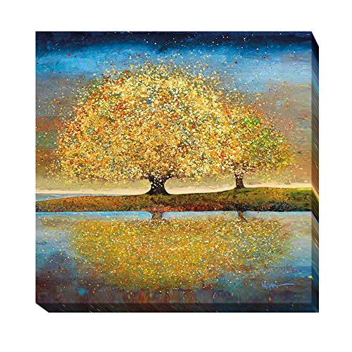 Artistic Home Gallery Season of Reflection by Melissa Graves-Brown Premium Gallery-Wrapped Canvas Giclee Art (30 in x 30 in, Ready-to-Hang) from Artistic Home Gallery