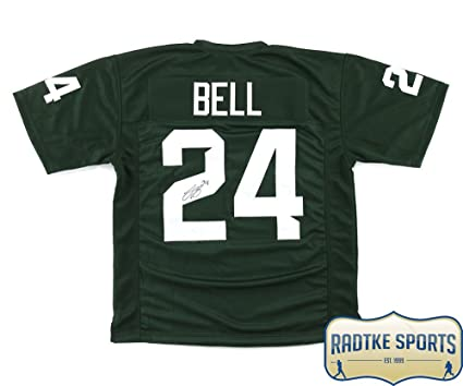 9063f2efd Image Unavailable. Image not available for. Color: LeVeon Bell Autographed/Signed  Michigan State Green Custom Jersey
