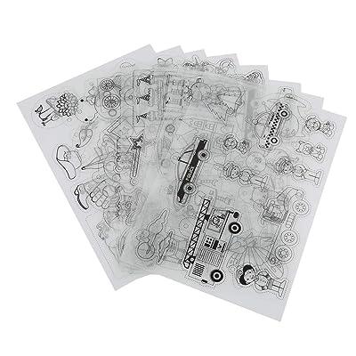 HEEPDD 8pcs Shrink Plastic, Heat Shrink Sheet with Multi Pattern Shrinky Art Paper Shrinkable DIY Keychain Charm Crafts Handmade Craft Tool for Kids Boys Girls(for Boy): Home & Kitchen
