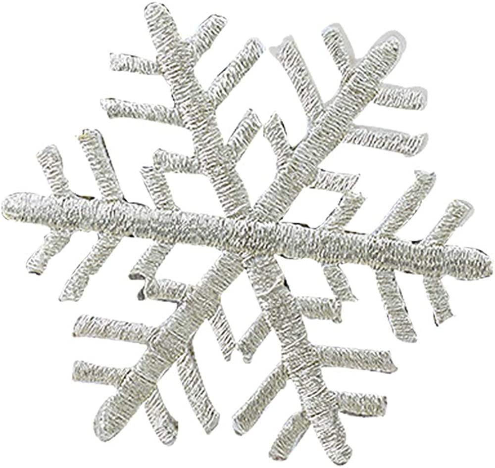 pin with glitter Stunning 3D white and blue frozen snowflake brooch