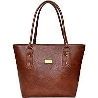 Meraki Sasha Women's PU Casual Purse Shoulder Bag for Women & Girls Brown