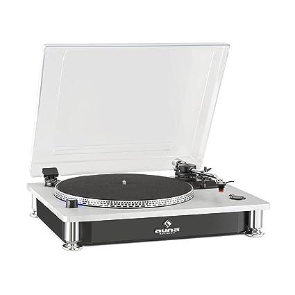 auna TT 933 Tocadiscos - Tocadiscos , Gramófono , Tracción por correa , Pitch-Control para hacer ajustes , 33 y 45 RPM , Cápsula intercambiable , ...