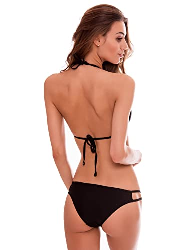 RELLECIGA Women's Push-up Swimwear Criss Cross Strappy Triangle best Bikini suit Set