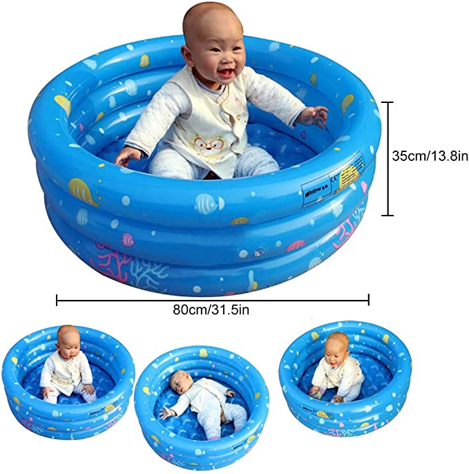 Pratcgoods 4 Separate air Chambers Inflatable Kiddie Pool Family Water Play Fun childen Pool Multiple uses Ball Pool