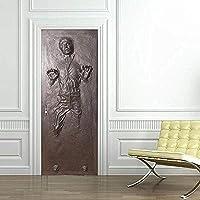 MSSDEBZ 3D deurstickers muursticker zelfklevende Han Solo Carboniet Decal Home Design Custom Order-95x215cm/38x86In