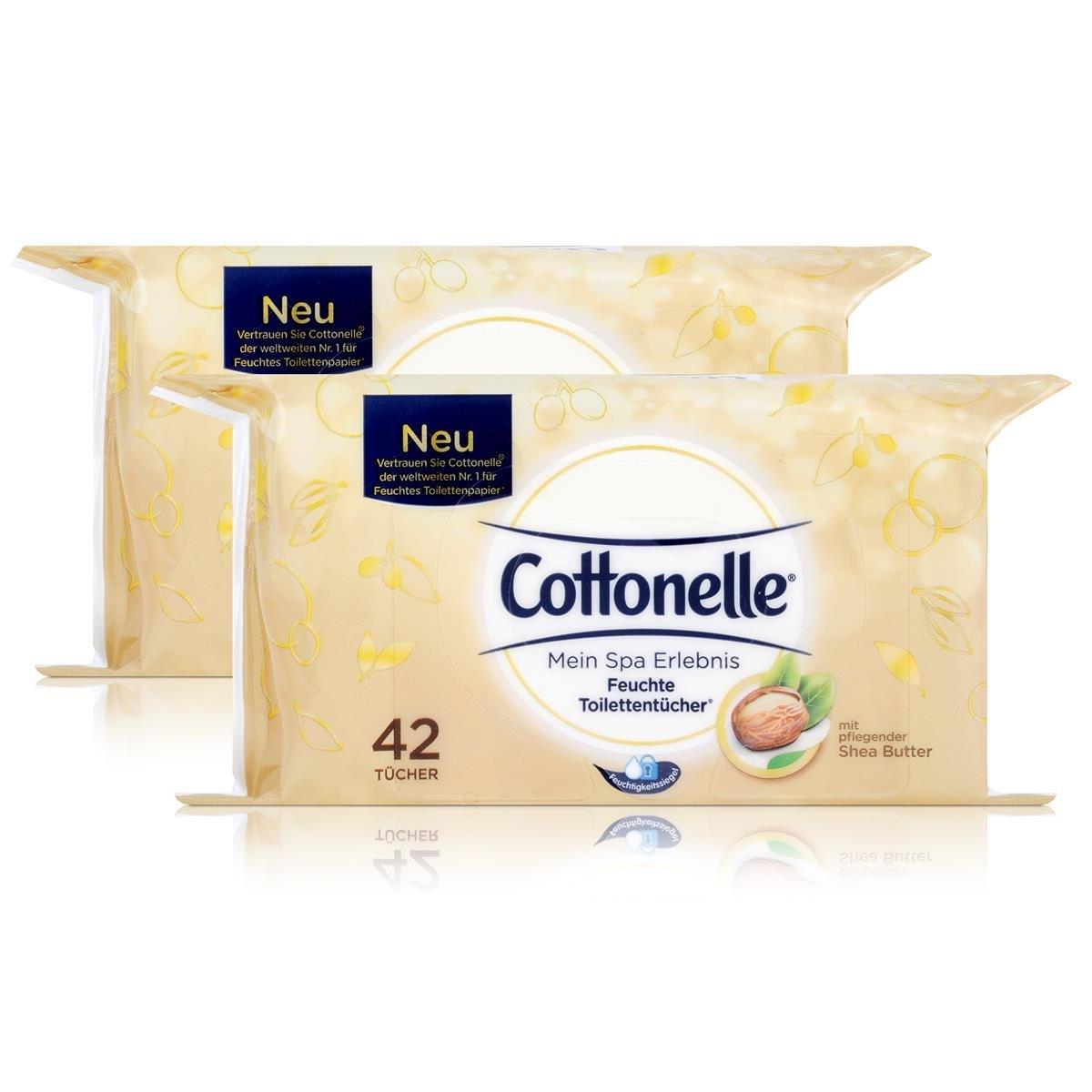 Cotton Elle húmedas inodoro paños con Manteca de Karité 42 Paños (2 unidades): Amazon.es: Belleza