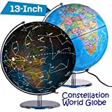 Best Illuminated Globes - ZUEDA 13 Inch Cartography Illuminated World Globe, Desktop Review