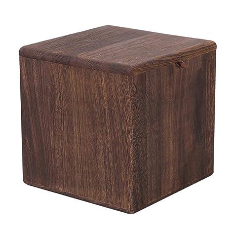 Amazon.com: WUFENG reposapiés retro de madera maciza ...