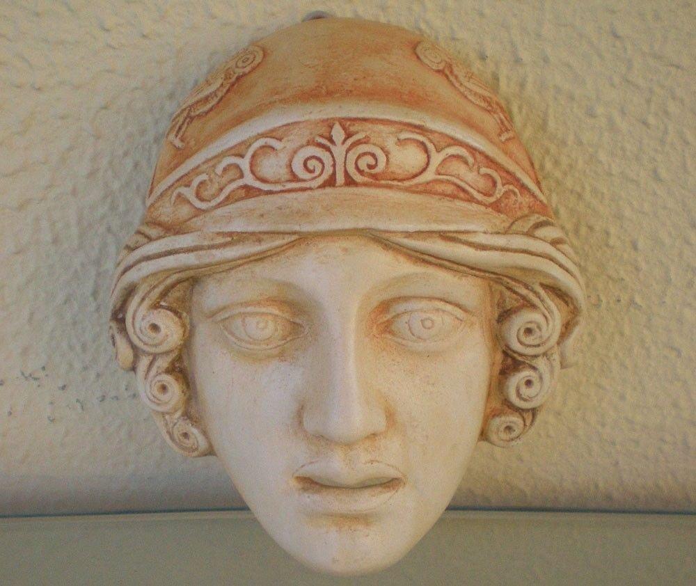 Athena Diosa en miniatura Máscara - Teatro griego de la Antigüedad - Pantalla de Atenas: Amazon.es: Hogar