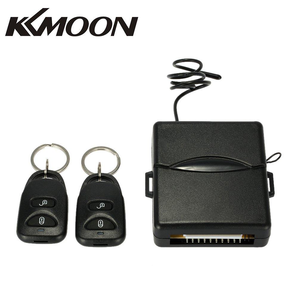 KKmoon Kit de Cerradura Bloqueo Central de Control Remoto para Audi con Botó n de Libració n Sistema de Entrada de Puerta de Coche Universal sin Llave