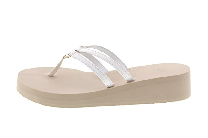 f35ac946390a UGG Women s Sandie Flip Flops Wedge Style With Patent Straps  Amazon.co.uk   Shoes   Bags