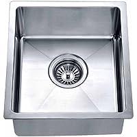 Dawn BS121307 Undermount Single Bowl Bar Sink, Polished Satin
