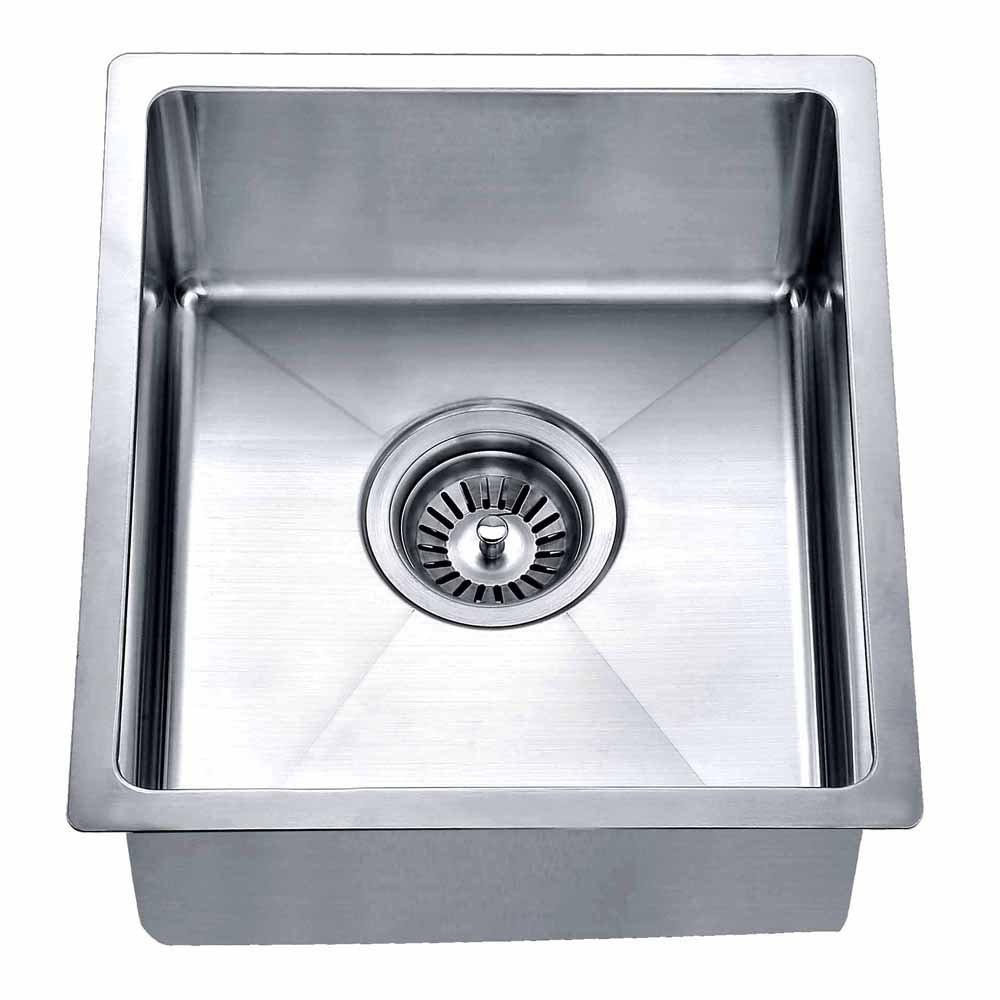 Dawn BS121307 Undermount Single Bowl Bar Sink, Polished Satin by Dawn