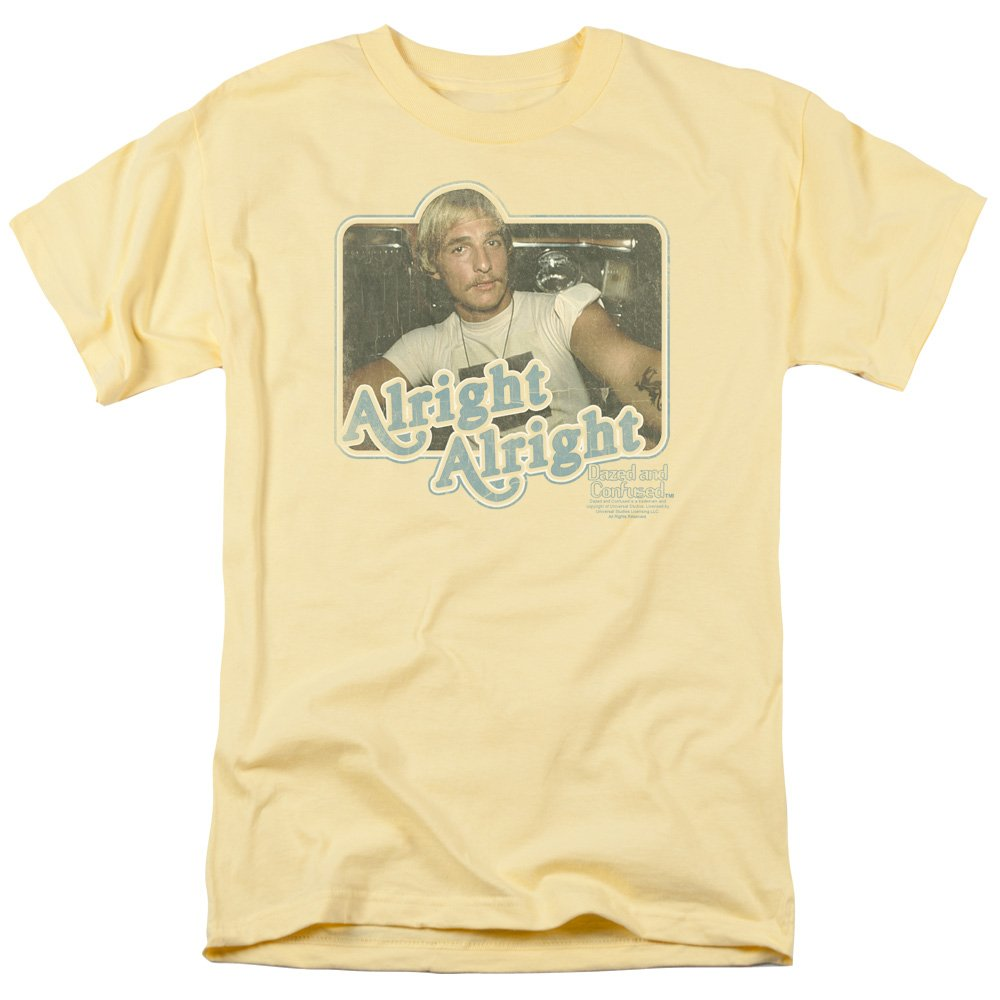 Dazed And Confused Teen Comedy 70s Movie Alright Alright Adult S Tshirt Tee