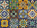 Tile Stickers Mexican Spanish 40pc 6x6in Peel and Stick for kitchen and bath Tr002-6