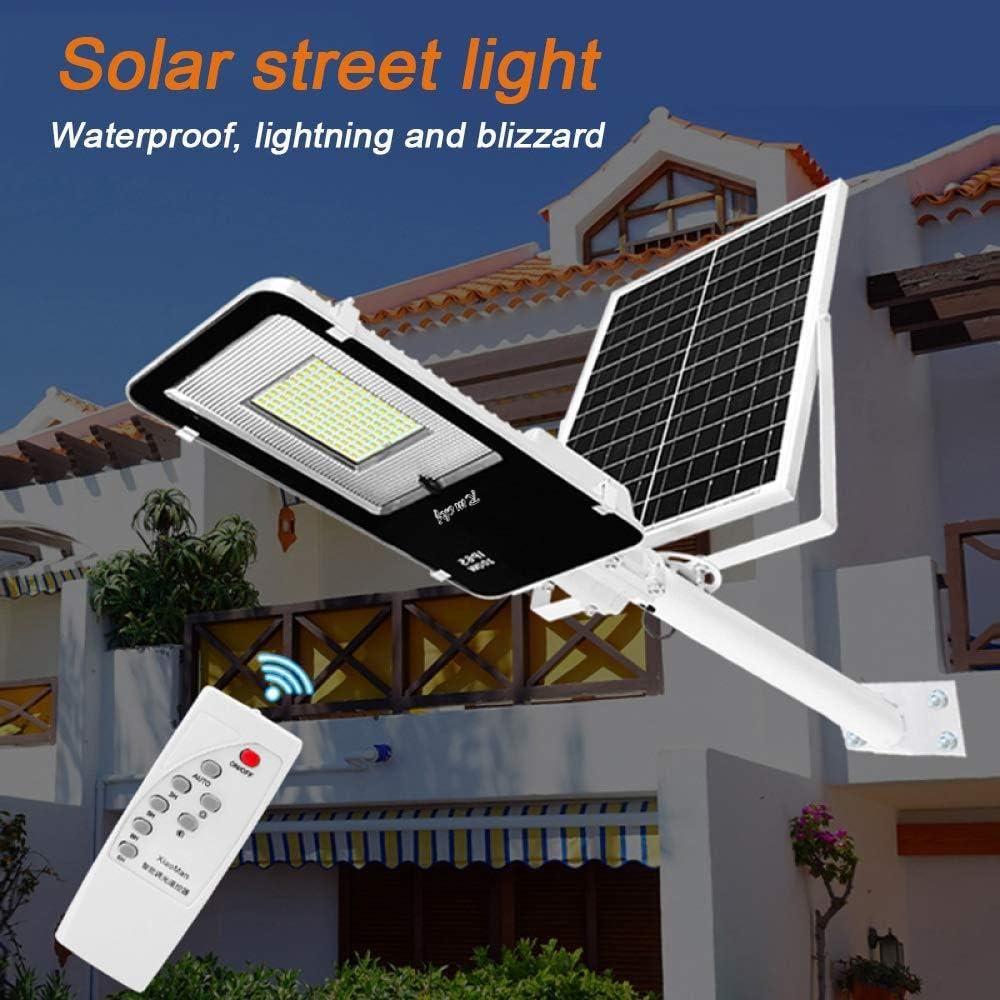 Farola Solar 10-300W Alto Brillo LED Farola Solar Jardín Luz con Sensor De Luz Y Batería Recargable Impermeable IP65 Farola para Jardín Al Aire Libre,300w: Amazon.es: Deportes y aire libre