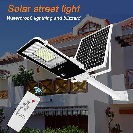 Farola Solar 10-300W Alto Brillo LED Farola Solar Jardín Luz con ...