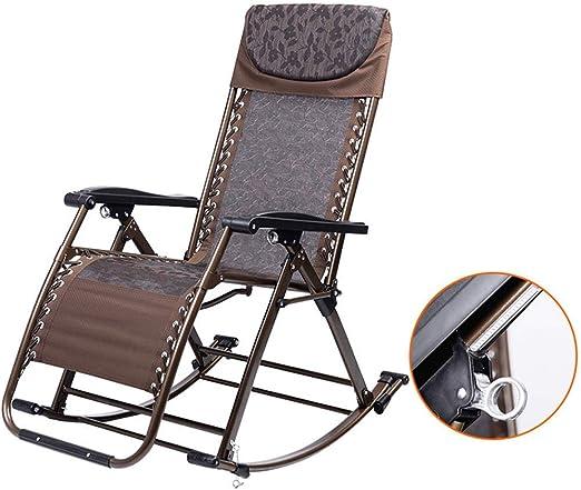 ZHJYD Sillón reclinable Sillas al Aire Libre Mecedora de jardín ...