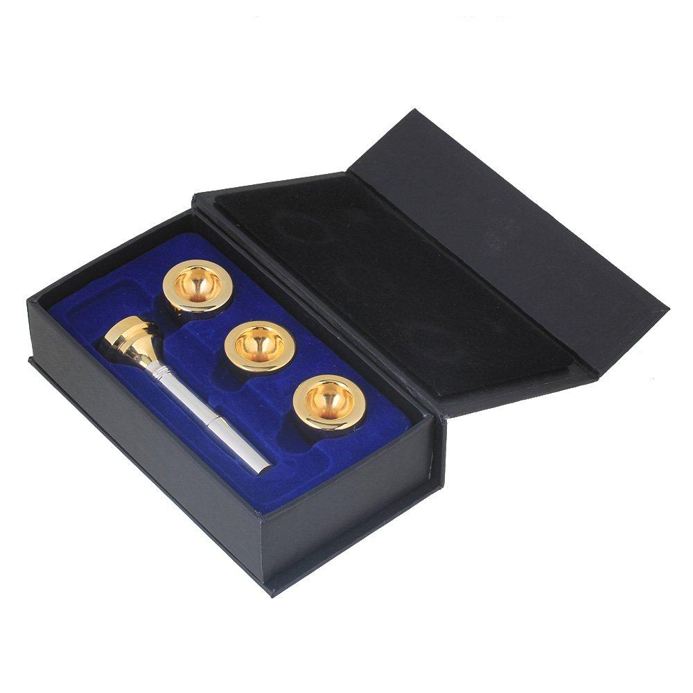 Mxfans Silver Brass Trumpet Mouthpiece Gold 7c 5c 3c 1.5c Trumpet Head Cups blhlltd BLMN201806040474