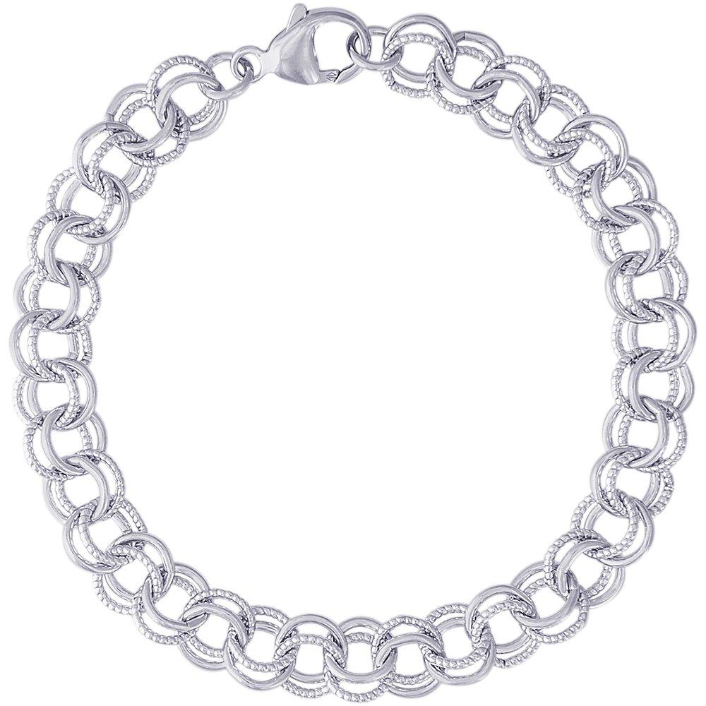 Sterling Silver Charm Bracelet, 8 inch, Charm Bracelets for Women & Girls