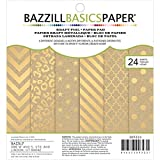 Bazzill Basics Cardstock Kraft Pad (24 Pack), 6x6-Inch, Gold
