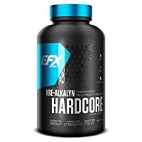 EFX Sports Kre-Alkalyn Hardcore | PH Correct Creatine Monohydrate Pre-Workout Energy| Patented Formula, Gain Strength, Build Muscle & Enhance Performance - 180 Capsules / 60 Servings