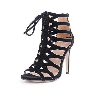 8be0e20f5a492f WSK Damen Strap Sandalen High Heels Kreuz Strap Heel Damen Sandalen Party  Bequeme Schuhe