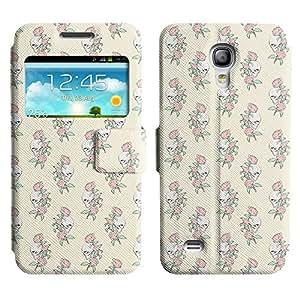 LEOCASE Cráneo y Rose Funda Carcasa Cuero Tapa Case Para Samsung Galaxy S4 Mini I9190 No.1002453