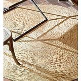 nuLOOM Handwoven Rigo Jute Rug, 6' Round, Natural