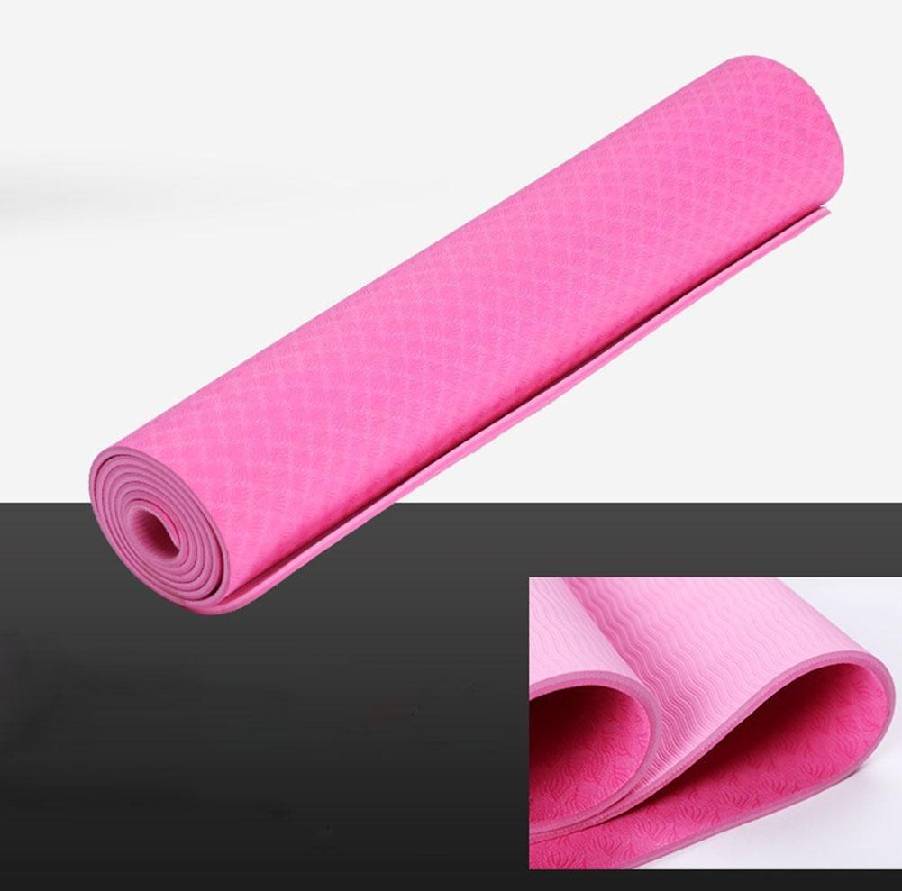 HZJ Rose ROT Natural Eco Gesundheit Und Fitness Comfort Microfiber Optimale Yoga Mat Non Slip FüR ÜBung Und Pilates Starter Damens Safe Workout-Haltbar
