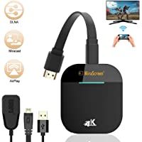 Wireless WiFi Display Dongle HDMI 4K, 5G WiFi Display ontvanger ondersteuning Miracast Airplay DLNA voor Android…