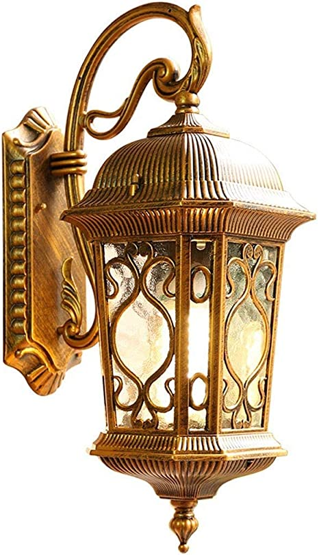 Amazon Com Hwzqhjy Vintage Wall Light Classical Traditional Wall Lamp Lanterns European Villa Garden Outdoor Waterproof Exterior Wall Sconces For Fence Path Courtyard Unique Night Wall Mounted Lighting Home Kitchen