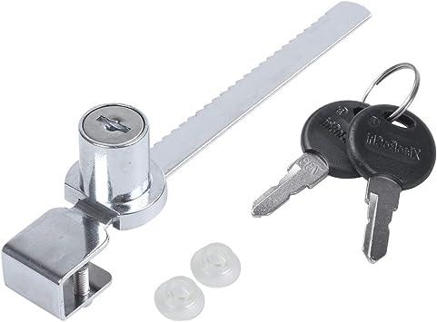 Nrpfell - Cerrojo para cajón, vitrina, puerta corredera de cristal con llaves (3 unidades): Amazon.es: Bricolaje y herramientas