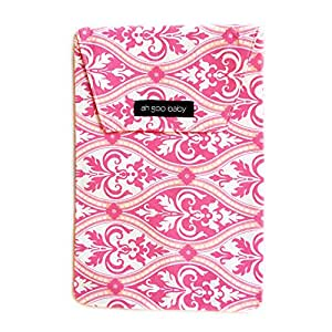 Ah Goo Baby Diaper Travel Pouch, Pink, Charleston Pattern