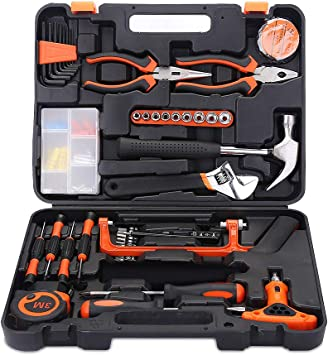 9-102PCS Tool Kit Set Household Hand Wrench Screwdriver Spanner Hammer Plier UK